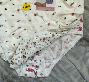 3 x pairs Ladies knickers plus size 24 - 26 larger womens mixed floral print NEW