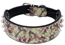 "SALE! Pet Palace® ""Army Dog"" Strong Protective Spiked Camouflage Dog Collar"