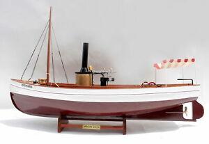 African Queen Historic Steamboat - Handmade Wooden Model Boat