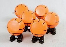 Lot of 6 Basketball Wind Up Walking Toys ~ Mechanical Fun For All Ages ~ #WG130