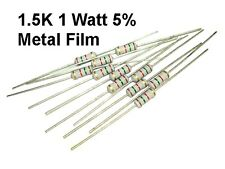 10 pack 1.5k 1500 Ohm 1 Watt 5% KOA Metal Film Resistors NEW