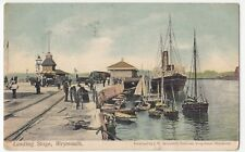 Dorset; Weymouth, The Landing Stage PPC By JW Broomfield, 1905 PMK