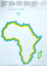 """Olympische Spiele 1972 München Motiv """"Afrika"""" DIN A0 TOP OLYMPIA SEHR SELTEN"""