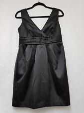 Womens New Look Black Satin Dress Size 10 Womens Black Dress