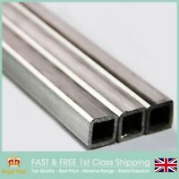 SS316L Box Section (12.7 x 12.7 x 1.5mm) Dull Polished