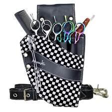 Hairdressing Scissor Pouch Kassaki Tool Belt Waist Bag Silver Checkered Design