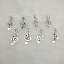 15pcs music Tibetan Silver Bead charms pendant fit bracelet 23x7mm