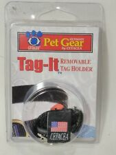 Tag-It (Removable Pet Id Tag Holder) - Easily clips on the collar - Usa Made