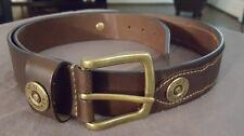 Remington Brown Leather Belt 12 GA Gauge Size 42 1130RM