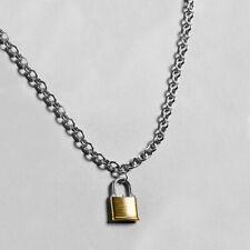 Punk Necklace Pendant Padlock Lock Unisex Punk Chain Necklace Jewelry Gift New