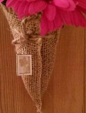 Bridal Bouquet Photo Memory Charm Wedding Favour Decoration  Hessian Twine