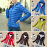 Women Quilted Puffer Bubble Hooded Lightweight Padded Down Jacket Lady Coat
