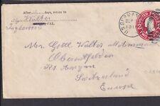 Postal History - US German Sea Post 1911 Cover to Switzerland