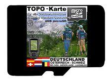 4GB microSD TOPO Karte DEUTSCHLAND Alpen D A CH Trekking GARMIN BaseCamp WANDERN