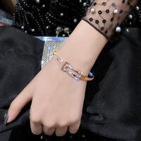 Fashion Women Bangle Bracelet Crystal Rhinestone Bowknot Cocktail Party Jewlery