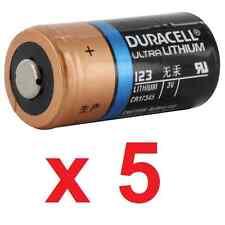 5 X pilas Duracell Ultra Lithium 3V 123 123A CR123 CR123A - BULK