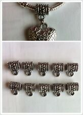 10pcs Tibetan Silver Charms 5cm Hole For Charm Bracelets Crafts Jewellery Making