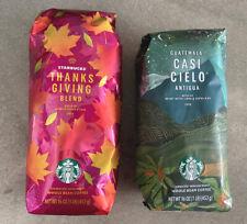 Starbucks Whole Bean Casi Cielo + Thanksgiving Blend, 1 Lb Bags, New