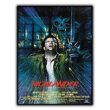 HIGHLANDER '86 SIGNAL MÉTALLIQUE PLAQUE MURALE Rétro Film Affiche publicitaire