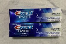 2 Pack Crest 3D White Luxe Toothpaste Diamond Strong Brilliant Mint 4.8 oz Ech R