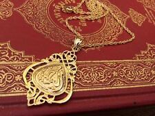 ARAB DUBAI 18K GOLD PLATED ALLAH ISLAMIC PENDANT NECKLACE CHARM JEWELRY MUSLIM