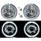 55 56 57 Chevy Halogen White Led Halo Headlight Headlamp H4 Light Bulbs 7 Pair
