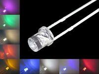 S374 Sortiment 90 Stück LEDs 3mm rot gelb grün weiß blau orange pink ww lila