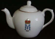 Queen Mary England Coronation Commemorative Teapot 1911 Royalty