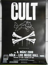 THE CULT 2008 Cologne-orig. Concert Poster -- CONCERT AFFICHE a1 NEUF
