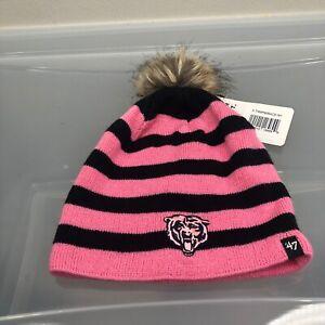 Chicago Bears 47 Brand Women's Winter Hat. New NWT Pink Beanie Cap. NFL Football