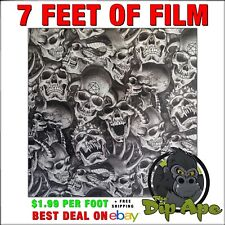 Hydrographic film Skulls Demented hydro dip dipping by Dip Ape