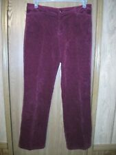 CRAZY HORSE Womens 10 Burgundy Maroon Stretch Corduroys Pants