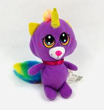 """Fiesta Princess Kittycorn 7"""" Plush Kitty Cat Unicorn Rainbow Stuffed Animal Toy"""