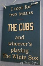 Chicago Cubs versus Chicago White Sox Baseball Sign Tickets Ball Card
