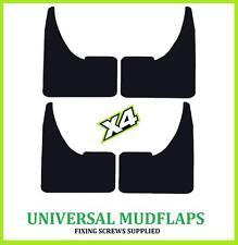 Universal Coche en Blanco de goma negro mudflaps MUD FLAPS Conjunto de 4