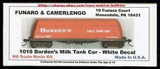 Funaro F&C 1010 BORDEN'S BUTTERDISH MILK TANK CAR White w/ EXPRESS REEFER TRUCKS