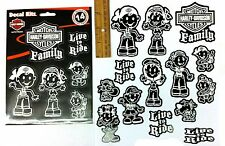 *Harley-Davidson* FAMILY set of 14 Decal Stickers for car window or other use