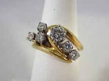 ESTATE 14K TWO-TONE GOLD LADIES DIAMOND RING 0.73 CT. *GIA - $2,725.00*