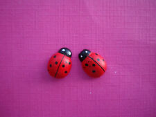 FUNKY MINI RED LADYBIRD EARRINGS KITSCH CUTE RETRO SWEET LADY BUG GIRLS GIFT EMO