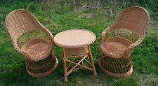 OSIER PANIER JARDIN Conservation Set inclus Coffe Table & 2 chaises naturel b