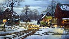 """Dave Barnhouse """" Country Partners"""" Farm John Deere Art Print-Pheasants Forever"""