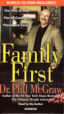Family First. . .  Plan by Dr. Phil McGraw TV Personality 6-Cassette Set 6.5 hrs