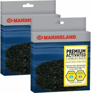 MarineLand PA11485 Canister Filter Carbon Bags, 2 Pack (2 filters per Pack)