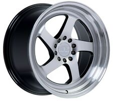18x8.5 +38 F1R F28 5X100 MACHINE FACE WHEEL Fit Dodge Neon Srt4 Forester Outback