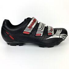 Diadora Mens Mountain Cycling MTB Shoes Sz 11.5 D-Skin Black/Red/Silver