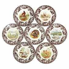 4 x Spode® Woodland Earthenware Collectibles Dining Dinner Plates 27cm Diameter