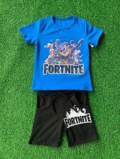 FORTNITE Bambino maglia Ragazzo completo Casual shirt e pantaloni corti cotone