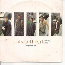 CD SINGLE 2 TITRES--TAKE THAT FEAT. LULU--RELIGHT MY FIRE--1993