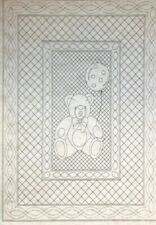 "Teddy Bear Premarked Wholecloth Crib Quilt Kit, 2 Colors avail, 36"" x 50"""