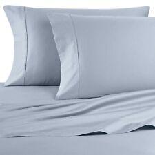 New 4-pc Sky Blue King 400 Thread Count 100% Cotton Sateen Wamsutta Sheet Set